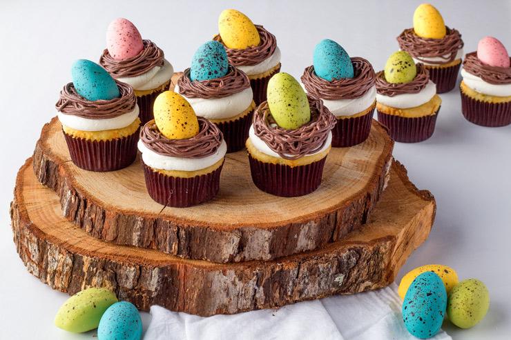 Bird Nest Cupcakes with Chocolate Robin Eggs | The Bearfoot Baker