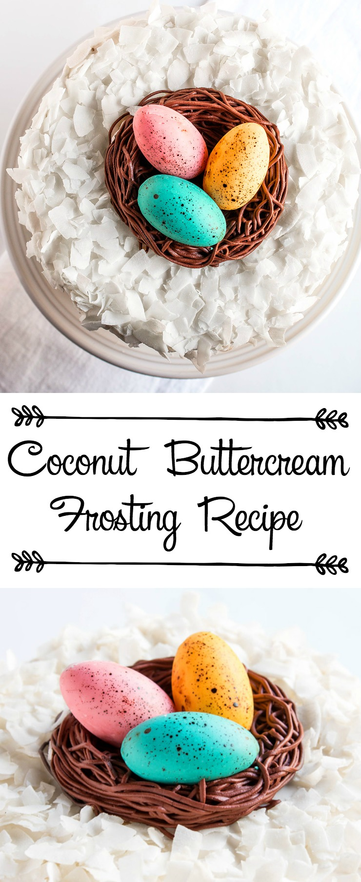 Coconut Buttercream Frosting Just in Time for Spring | The Bearfoot Baker