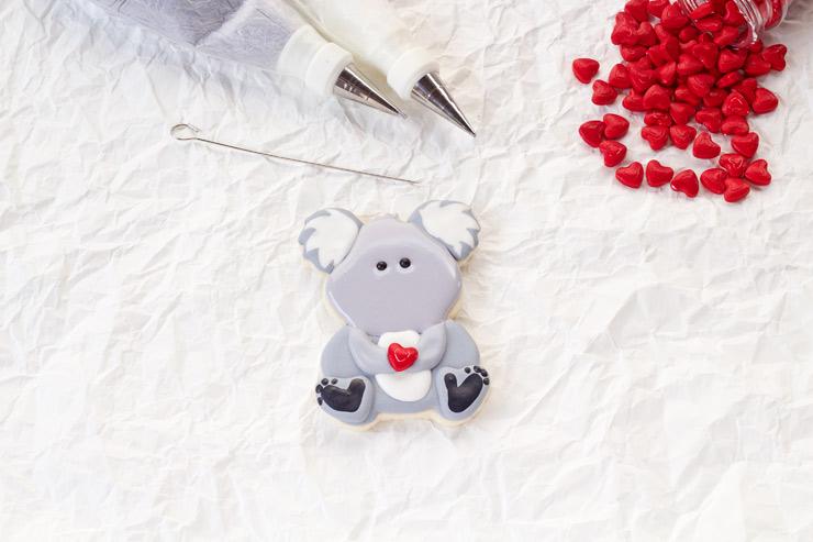 Cute Decorated Koala Cookies | The Bearfoot Baker