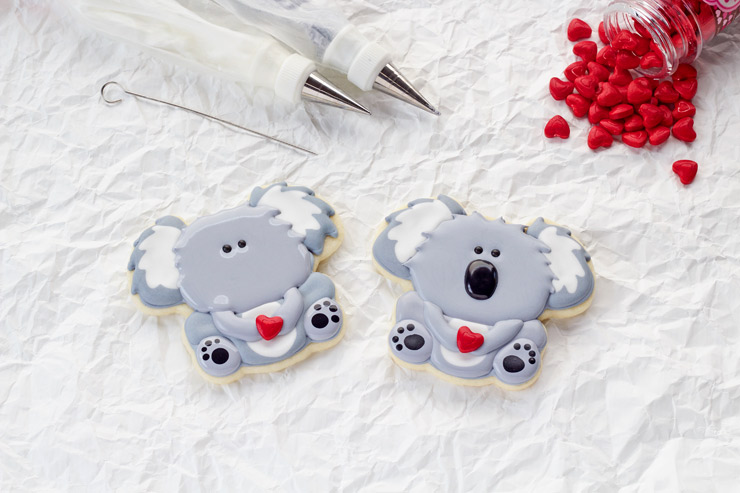 Cute Little Decorated Koala Cookies | The Bearfoot Baker