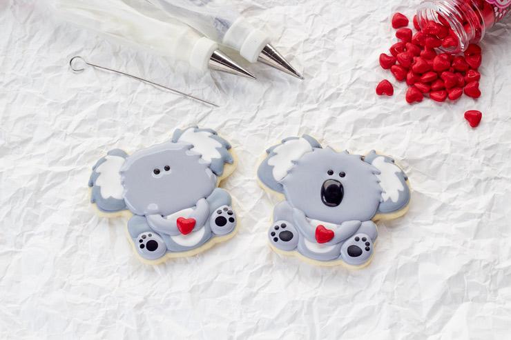 Cute Little Decorated Koala Cookies | The Bearfoot Baker