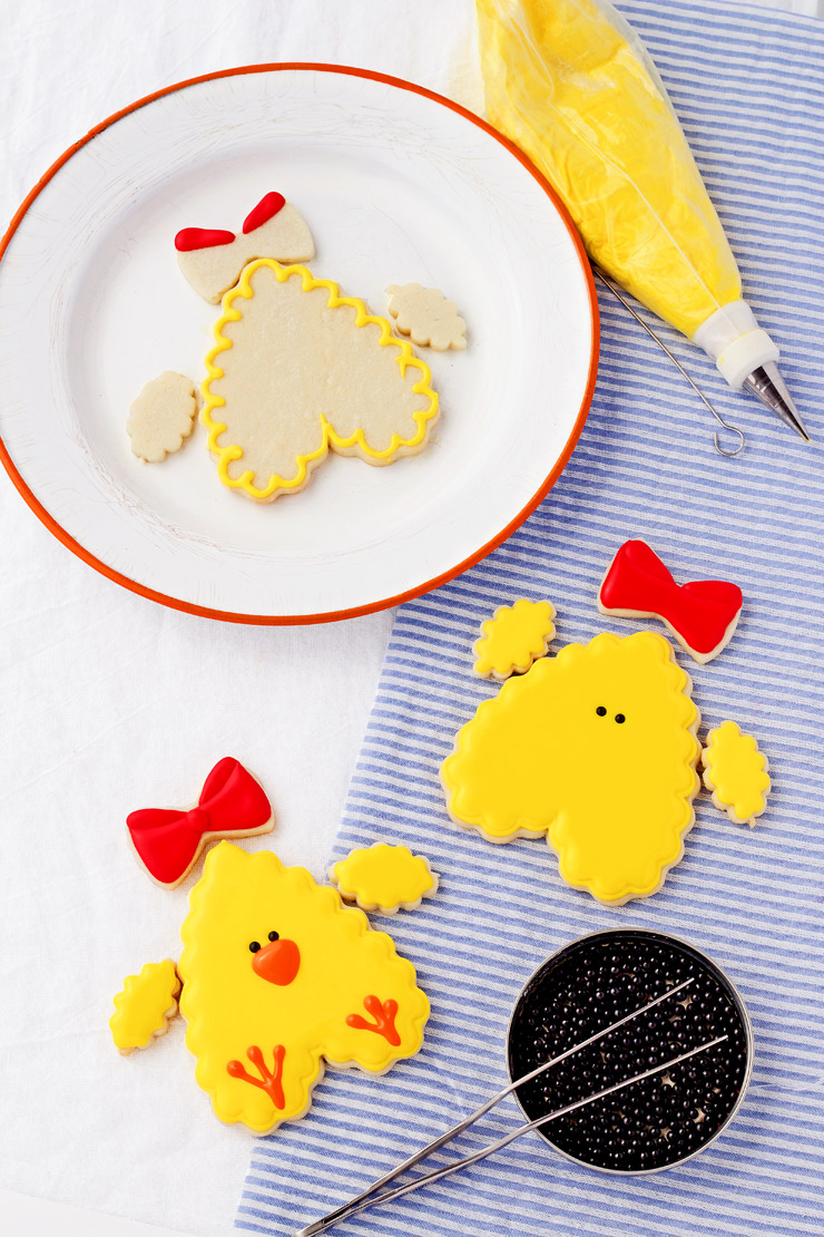How to Make Cute Little Chick Cookies with a How To Video | The Bearfoot Baker