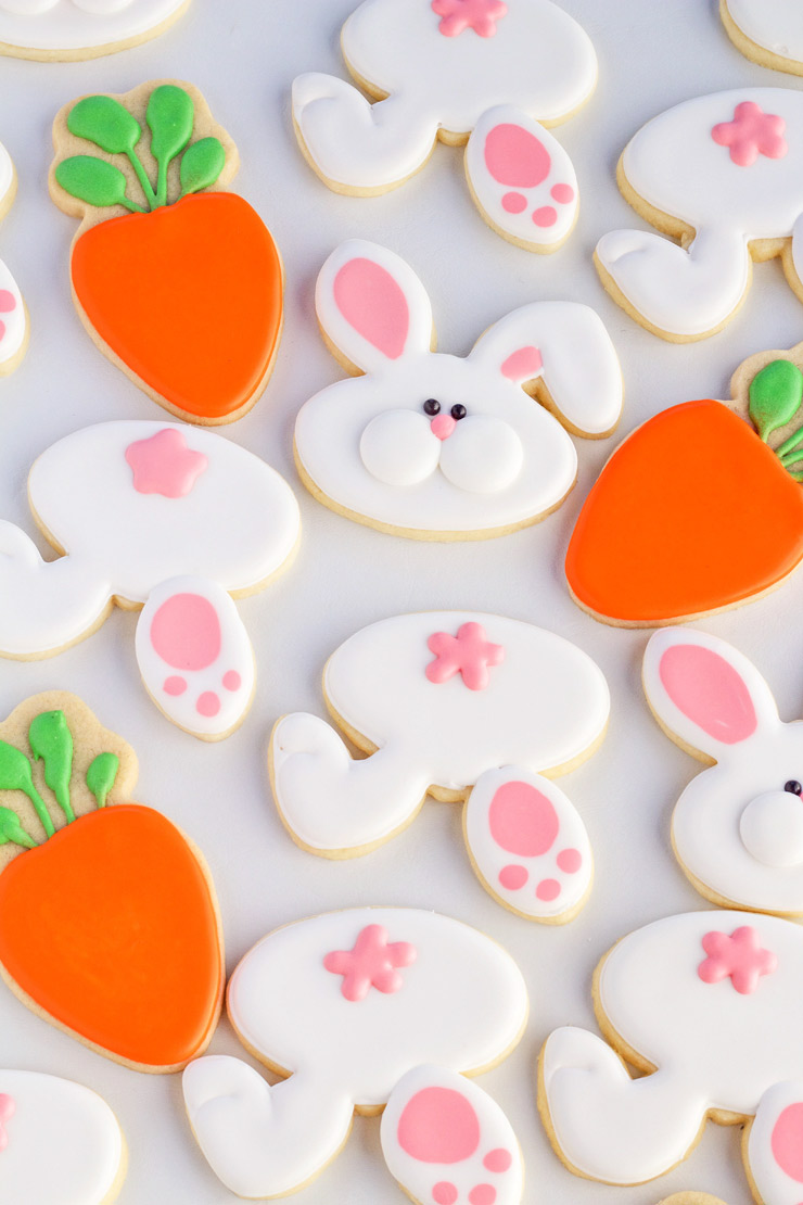 How to Make Fun Little Bunny Cookies with a Video Tutorial | The Bearfoot Baker
