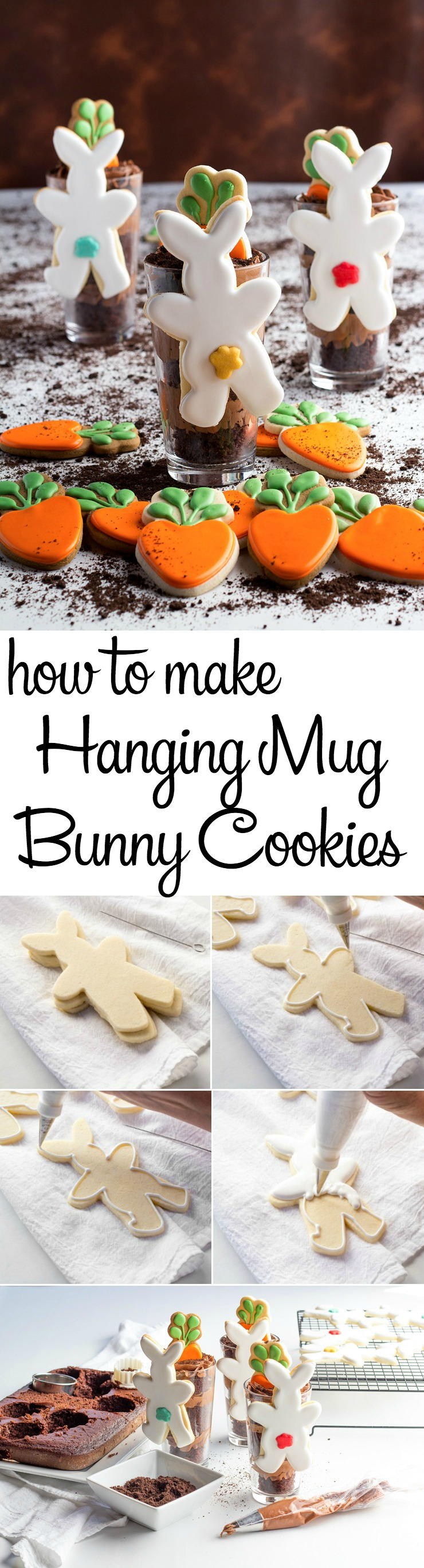 How to Make Simple Hanging Mug Bunny Cookies with a How to Video | The Bearfoot Baker