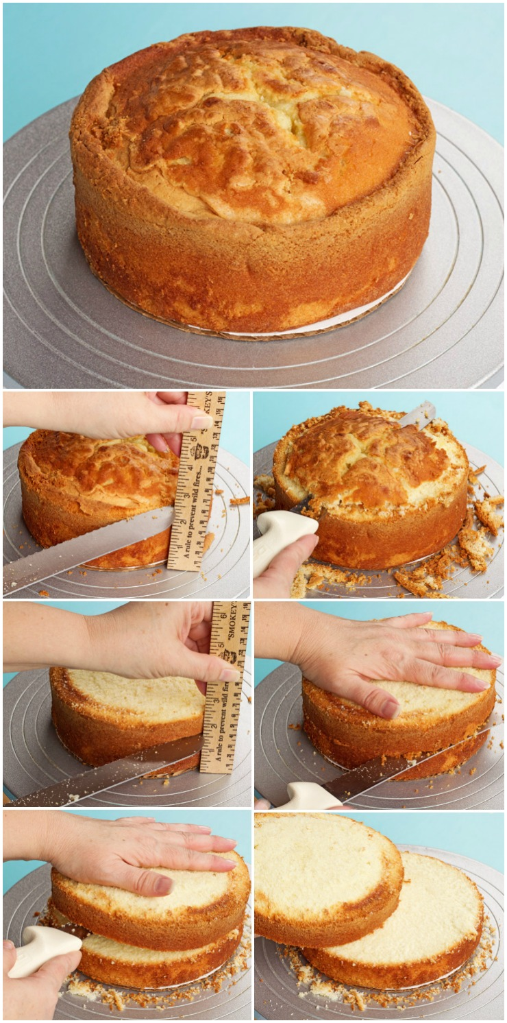 Learn How to Level and Torte a Cake with a Knife and a Ruler | The Bearfoot Baker