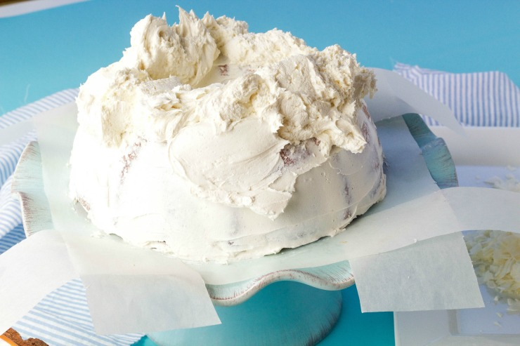 Simple Coconut Cake Recipe with Coconut Buttercream Frosting | The Bearfoot Baker