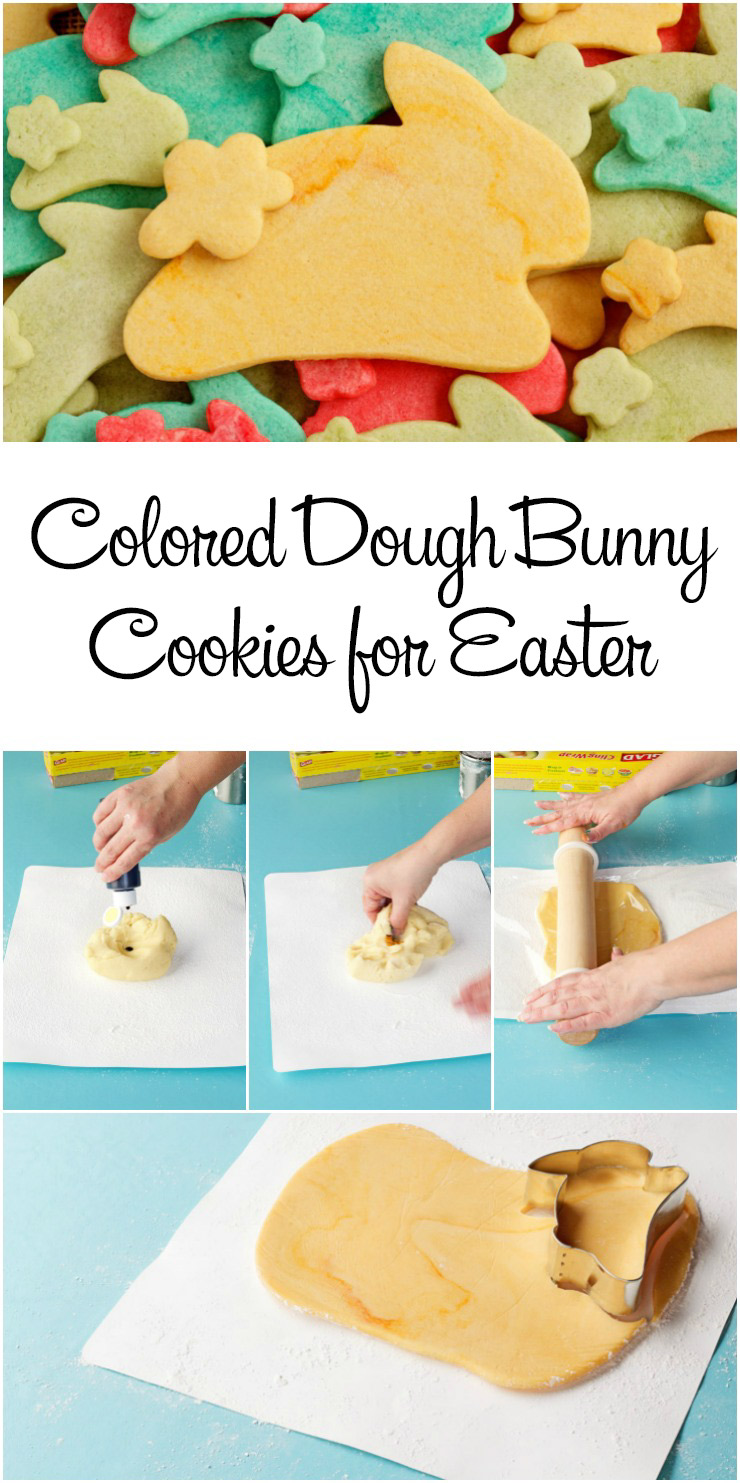 Simple Colored Dough Bunny Cookies for Easter | The Bearfoot Baker