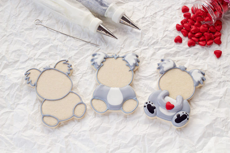Simple Little Decorated Koala Cookies | The Bearfoot Baker