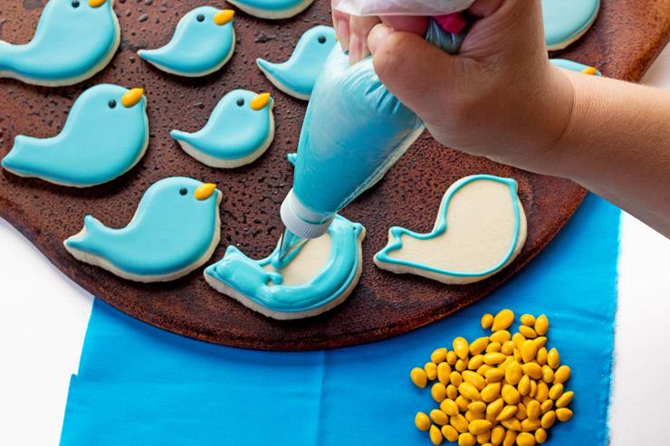 Cute Little Blue Bird and Flower Cookies   The Bearfoot Baker