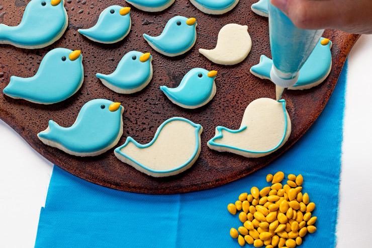 Easy Little Blue Bird and Flower Cookies   The Bearfoot Baker