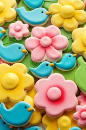 How to Make Blue Bird and Flower Cookies | The Bearfoot Baker