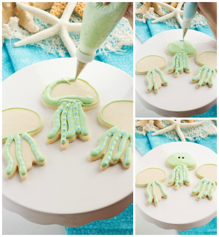 How to Make Fun Little Jellyfish Cookies | The Bearfoot Baker