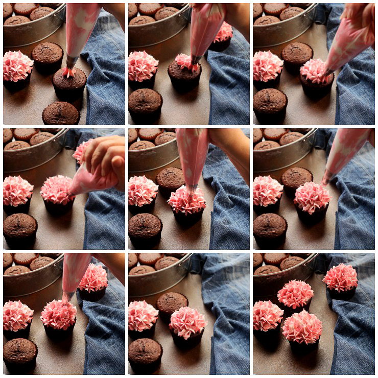 How to Make Beautiful Hydrangea Cupcakes with a How to Video | The Bearfoot Baker