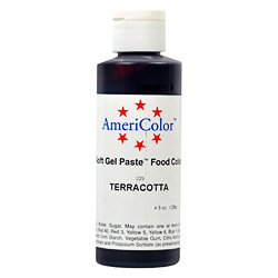 AmeriColor Terracotta Soft Gel Paste Food Color 4.5 ounces