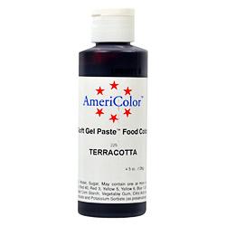 AmeriColor Terracotta Soft Gel Paste Food Color 4.5 ounces