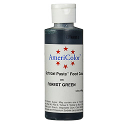 Americolor Forest Green Soft Gel Paste Food Color, 4.5-Ounce