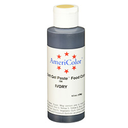 Americolor Ivory Soft Gel Paste Food Color, 4.5-Ounce