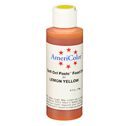 Americolor Lemon Yellow Soft Gel Paste Food Color