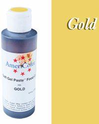 Americolor Soft Gel Paste Food Color-Gold 4.5 ounce
