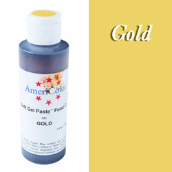 Americolor Soft Gel Paste Food Color-Gold 4.5 ounce