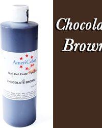 Americolor Soft Gel Paste Food Gel-Chocolate Brown 13.5 ounce