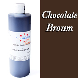 Americolor Soft Gel Paste Food Gel-Chocolate Brown 13.5 ounce