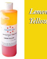 Americolor Soft Gel Paste Food Gel-Lemon Yellow 13.5 ounces