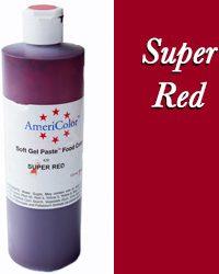 Americolor Soft Gel Paste Food Gel-Super Red 13.5 ounces