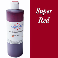 Americolor Soft Gel Paste Food Gel-Super Red 13.5 ounces