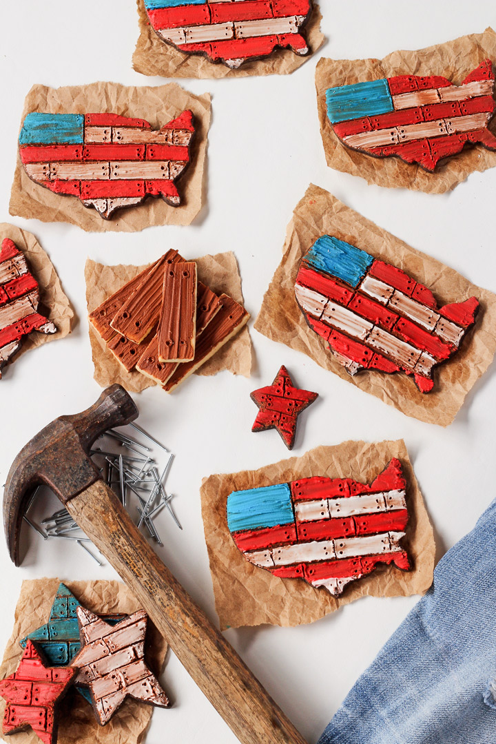 How to Make American Flag Cookies with Video | The Bearfoot Baker