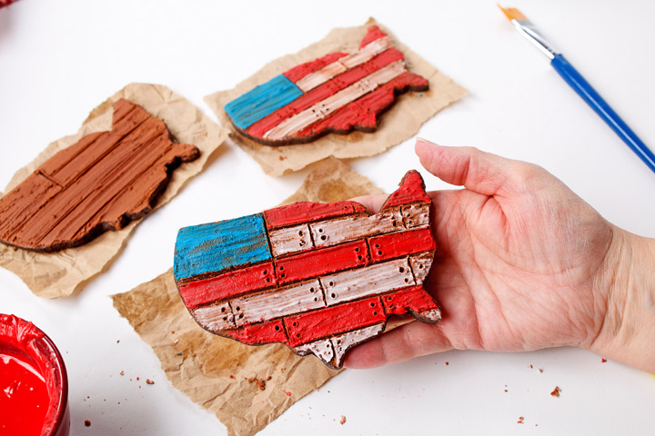 How to Make Rustic American Flag Cookies with a Simple How to Video | The Bearfoot Baker