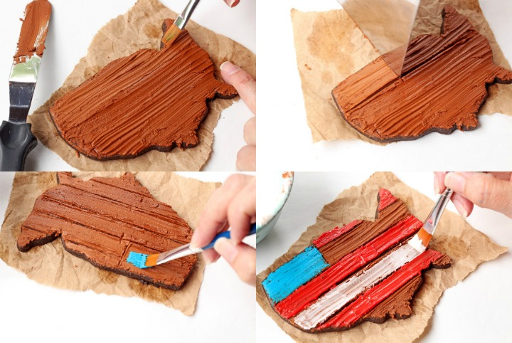 How to Make Simple Rustic American Flag Cookies | The Bearfoot Baker