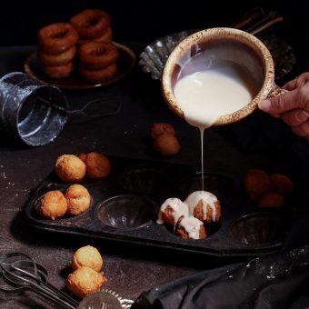 Simple Glazed Donut Holes Recipe | The Bearfoot Baker