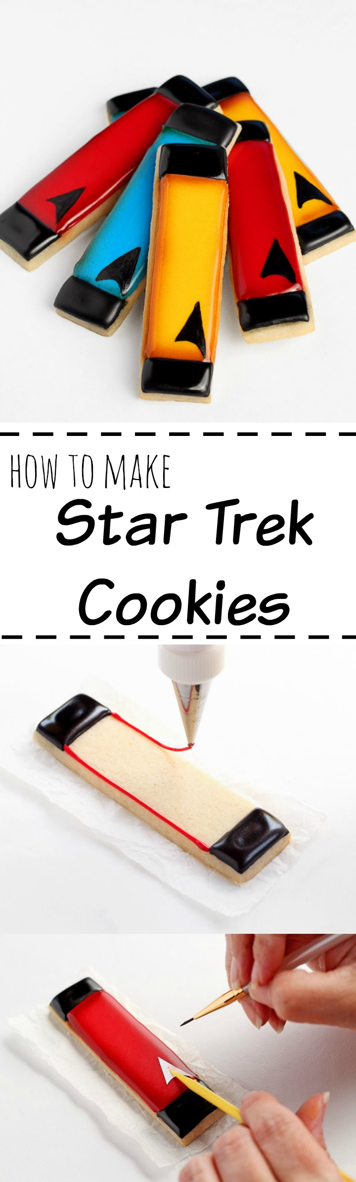 Simple Star Trek Cookies with a Simple How to Video Tutorial | The Bearfoot Baker
