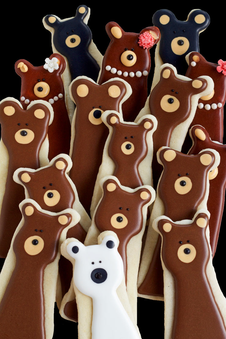 Fun and Simple Bear Cookies | The Bearfoot Baker