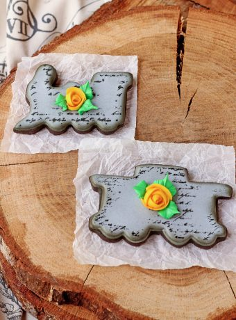 How to Make Vintage Train Cookies with How to Video and Step by Step Tutorial | The Bearfoot Baker