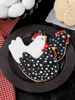 How to Make Cute Chicken Cookies with Video | The Bearfoot Baker