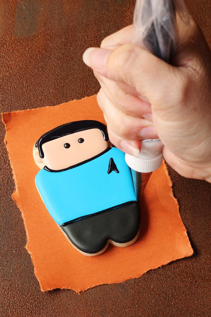 How to Make Simple Star Trek Cookies | The Bearfoot Baker