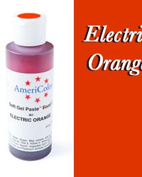 Americolor Soft Gel Paste Food Color-Electric Orange 4.5 ounce