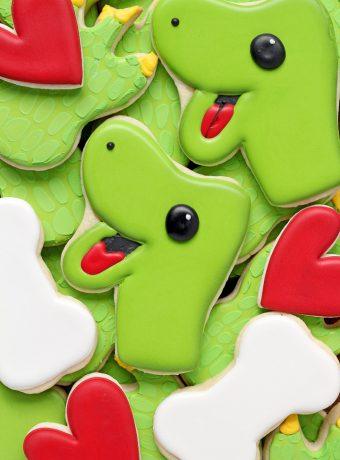 Fun Dinosaur Cookies with Video | The Bearfoot Baker