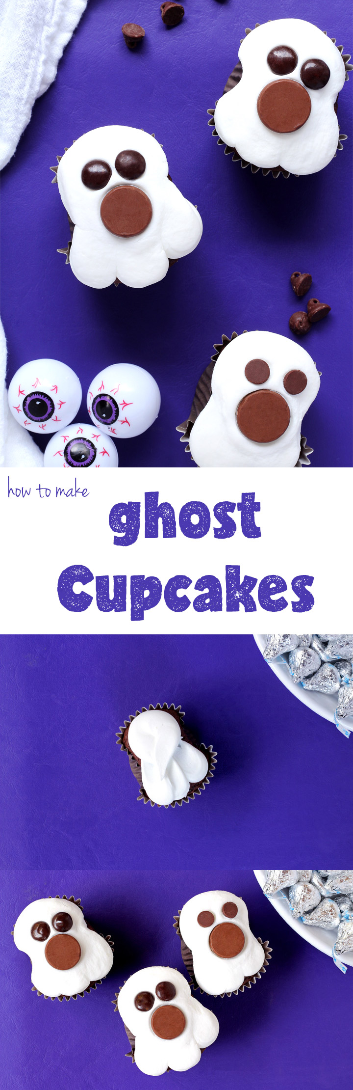 How to Make Cute Spooky Ghost Cupcakes | The Bearfoot Baker