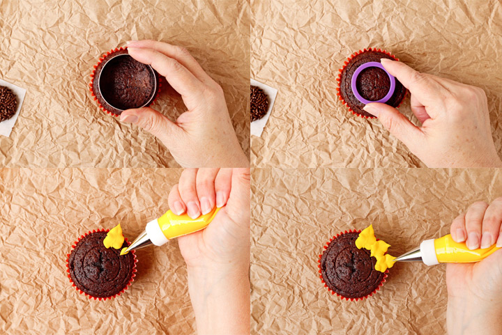 How to Make Simple Sunflower Cupcakes with a How to Video   The Bearfoot Baker