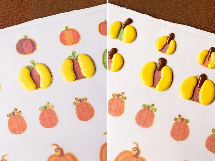 How to Make Cute Pumpkin Royal Icing Decorations | The Bearfoot Baker