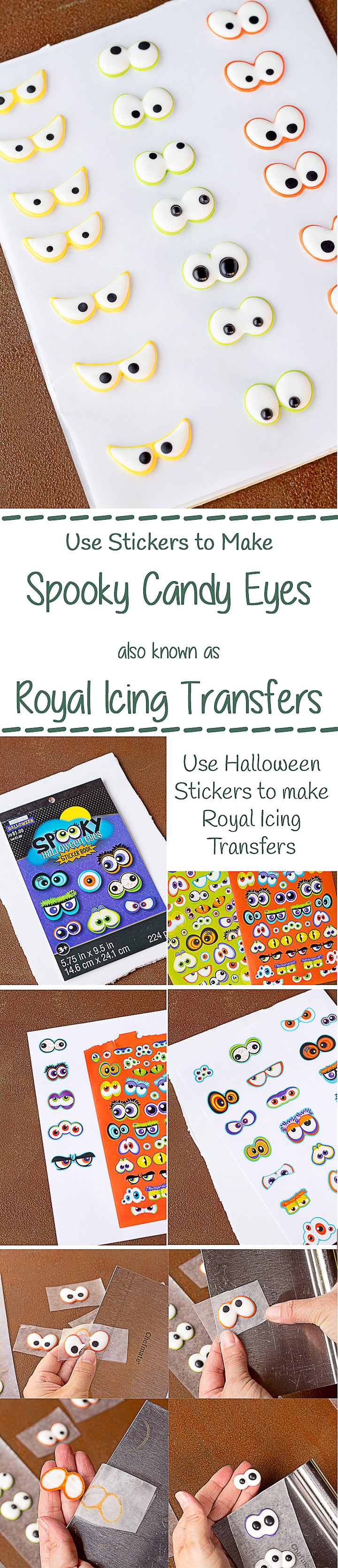 How to Make Spooky Eye Candy using Halloween Stickers with a How to Video   The Bearfoot Baker