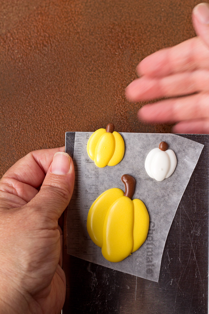 Pumpkin Royal Icing Decorations with a Video | The Bearfoot Baker