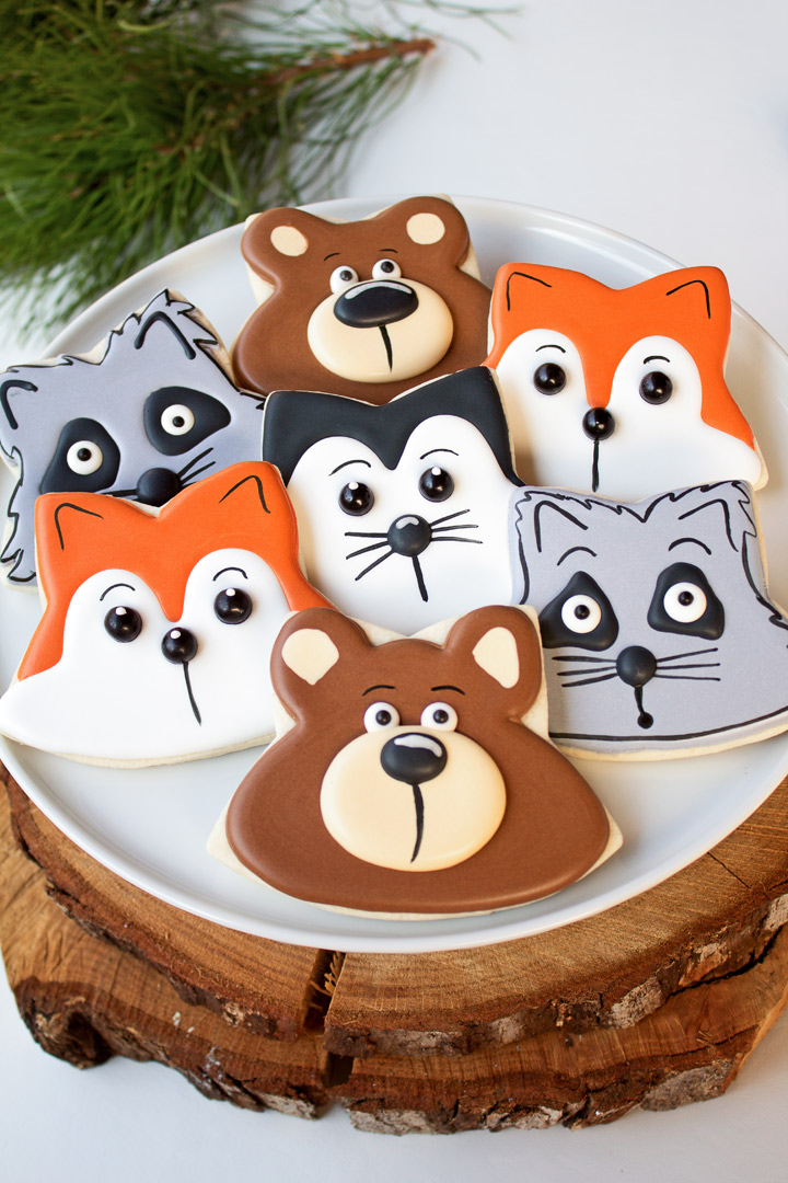 How To Make Simple Decorated Woodland Cookies with Video | The Bearfoot Baker