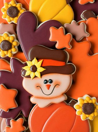 How to Make Simple Scarecrow Cookies with Video | The Bearfoot Baker