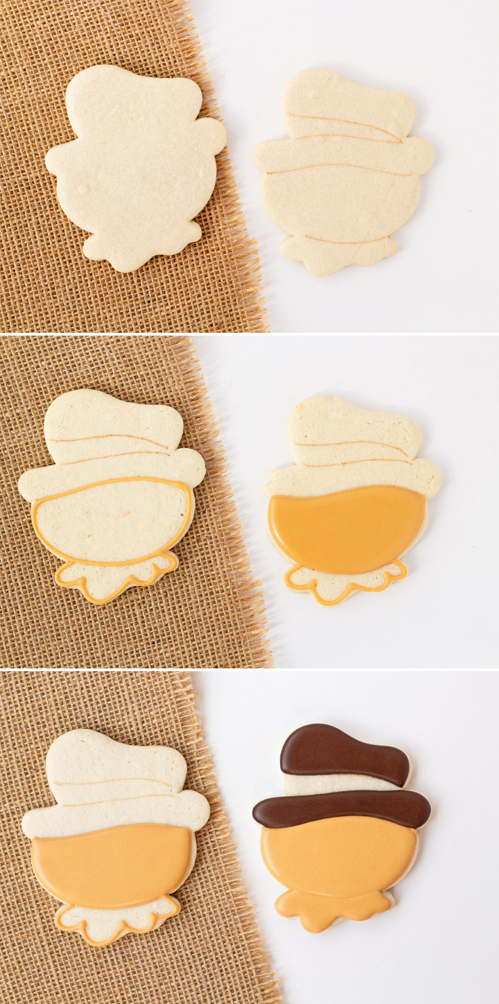 How to Make Simple Scarecrow Cookies with a Video | The Bearfoot Baker