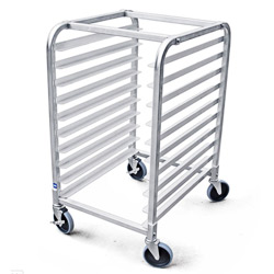 10 Tier Bun Pan Rack Sheet Pan Rack with Brake Wheel