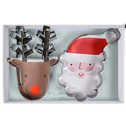 Christmas Santa and Reindeer Cookie Cutters